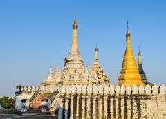 burmese pagoda, myanmar - stock photo