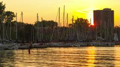 Sundown at the Marina,  Timelapse 4K Stock Footage