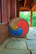 Korean national symbol  at historic building Stock Photos