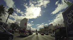 Driving down the Las Vegas Strip during the Day in Las Vegas on CIRCA 2014. - stock footage