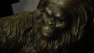 Bigfoot bronze rack focus fantasy angry monster Stock Footage