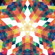 Retro star vector backdrop. mosaic hipster background made of triangles. retr Stock Illustration