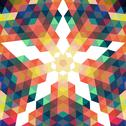 Stock Illustration of retro star vector backdrop. mosaic hipster background made of triangles. retr