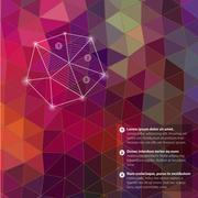 retro pattern of geometric shapes. triangle colorful mosaic backdrop. geometr - stock illustration