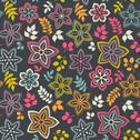 Stock Illustration of floral seamless pattern with flowers. vector blooming doodle floral texture.
