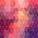Stock Illustration of hipster geometric background made of cubes.retro hipster color mosaic backgro