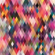 Pattern of geometric shapes, rhombic.texture with flow of spectrum effect. ge Stock Illustration