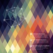Stock Illustration of pattern of geometric shapes, rhombic.texture with flow of spectrum effect. ge
