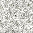 Stock Illustration of romantic doodle floral texture. copy that square to the side and you'll get s
