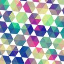 Stock Illustration of retro pattern of geometric shapes. triangle colorful mosaic backdrop. geometr