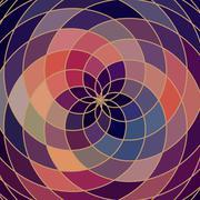 mosaic spectrum color wheel made of geometric shapes. rainbow color spectrum  - stock illustration