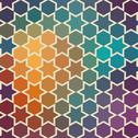 Stock Illustration of background of repeating geometric stars. spectrum geometric background. retro