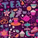 Stock Illustration of tea,sweets seamless doodle pattern. copy that square to the side and you'll g