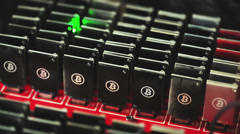 Bitcoin mining Stock Footage