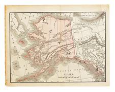 old alaska map - stock photo