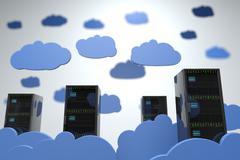 Stock Illustration of Cloud Servers