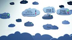 Cloud Servers 1 Stock Footage