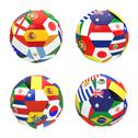 Stock Illustration of 3d render of 4 soccer football representing competition group b on 2014 fifa