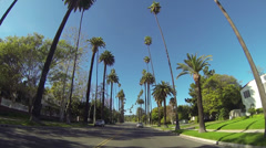 Driving through Beverly Drive in Beverly Hills Stock Footage