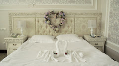 Room Suite, heart symbol, the camera smoothly zooms - stock footage