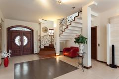 Classy house - entrance Stock Photos