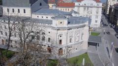 AERIAL: Beautiful baroque building - stock footage