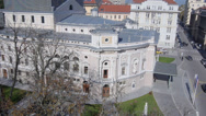 Stock Video Footage of AERIAL: Beautiful baroque building