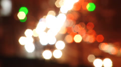 city ​​lights at night . Out of focus - stock footage