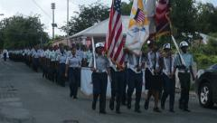 St Croix Martin Luther King Parade ROTC fast HD 1053 Stock Footage