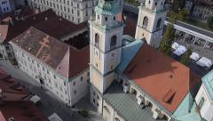 AERIAL: Old renaissance town - stock footage