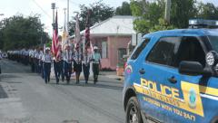St Croix Martin Luther King Parade ROTC HD 1053 Stock Footage