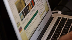 Computer Literate Operator,NoteBook Keyboard. Stock Footage