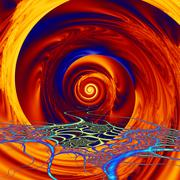 Stock Illustration of vortex of colors