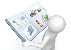 Stock Illustration of lifestyle collection - man with photo album