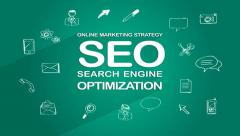 Online Marketing Strategy. SEO. Search engine optimization. Stock Footage