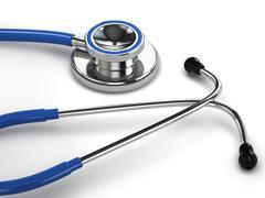 stethoscope on white isolated background. - stock illustration