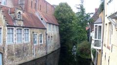 Canals of Bruges (Brugge, Belgium). Stock Footage