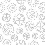 Gearwheels Seamless Background - stock illustration