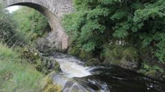 River Tweed, Tweedsmuir, Borders, Scotland, UK Stock Footage