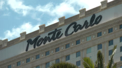 LAS VEGAS - CIRCA 2014: Montecarlo Resort and Casino on CIRCA 2014 in Las Vegas. Stock Footage