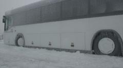 Frozen bus Stock Footage