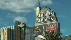 New York New York Hotel in Las Vegas on CIRCA 2014 Stock Footage