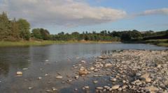 River Tweed, Tweeddale, Borders, Scotland, UK Stock Footage