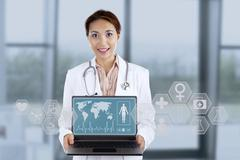 Young female doctor Stock Illustration