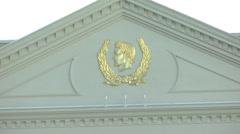 Caesar Palace Hotel Temple pool in Las Vegas, CIRCA 2014 Stock Footage
