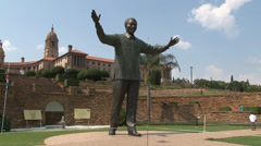 Statue Nelson Mandela 05 PAL Stock Footage