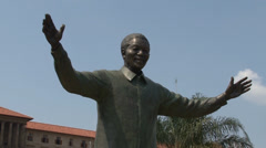 Statue Nelson Mandela 04 PAL Stock Footage