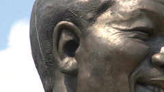 Statue Nelson Mandela 06 NTSC - stock footage