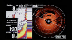 Marine GPS and sonar - stock footage