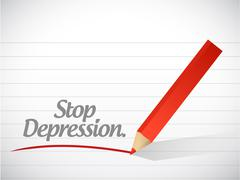 Stop depression message illustration design Stock Illustration